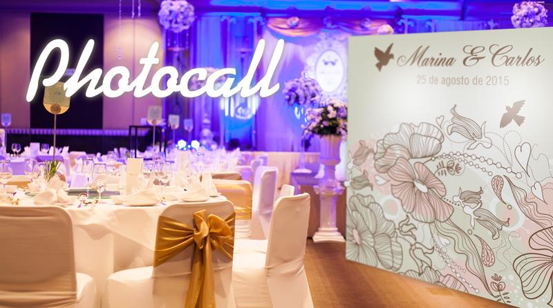 Photocall personalizado para bodas en salon