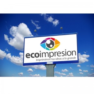 valla publicitaria impresa de Ecoimpresion.es