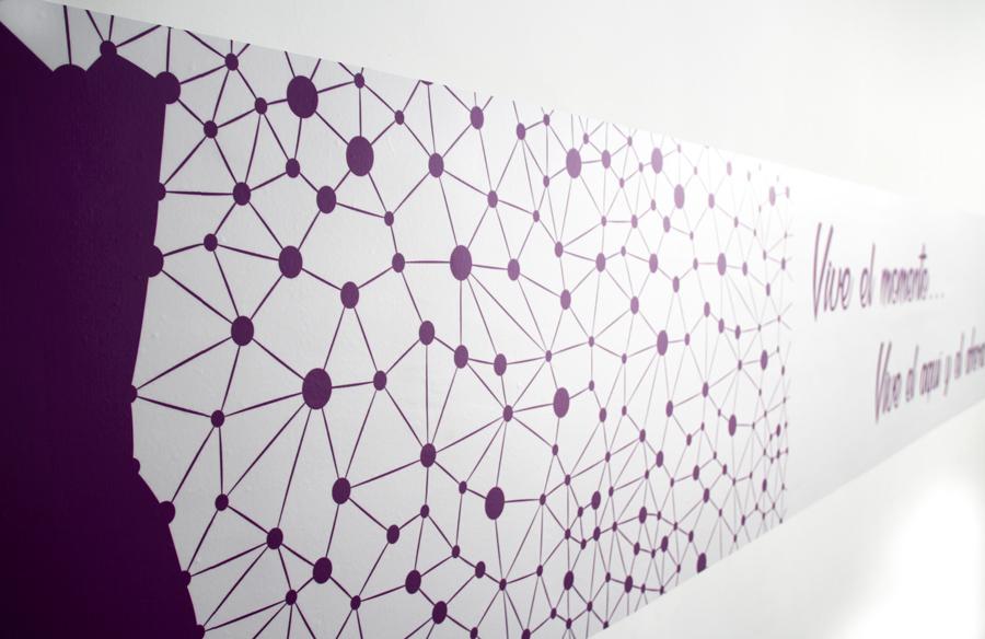 Decoracion con vinilos impresos de sala de masajes
