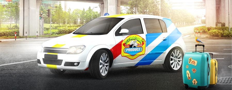 coche de empresa rotulacion con vinilo personalizado
