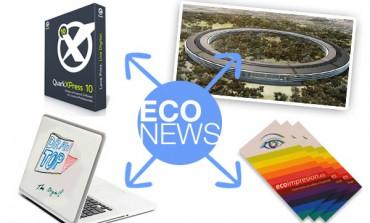 Eco News #4: Quark, Imprenta, Campus Apple, Vinilo pizarra...