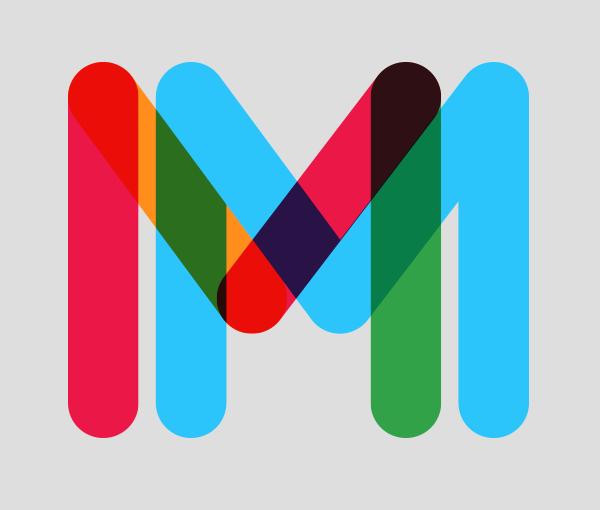 Tipografia especial multicolor