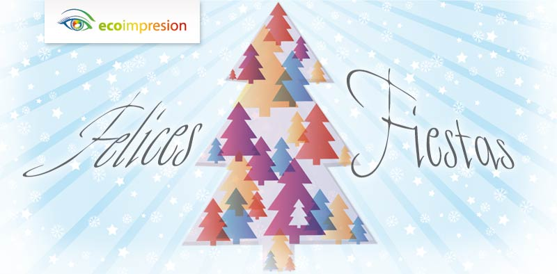 Diseño cartel de fiestas de navidad
