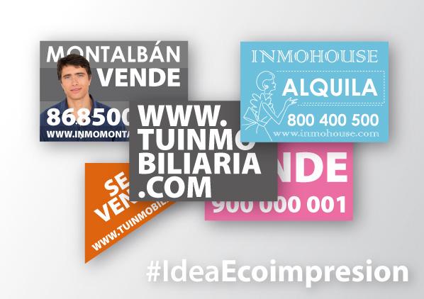 Ideas de diseño para carteles de inmobiliarias