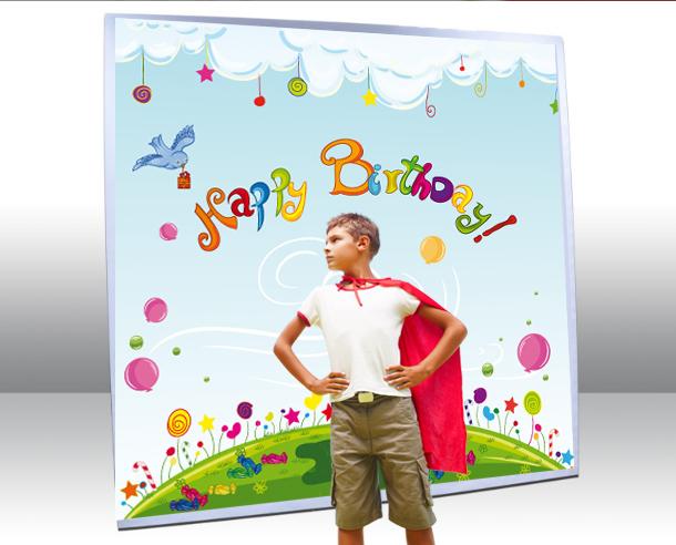 Photocall personalizado impreso con niños