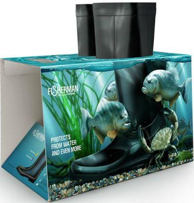 botas de lluvia con un packaging muy efectivo