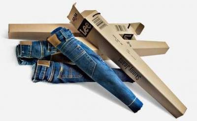 Packaging para pantalones vaqueros