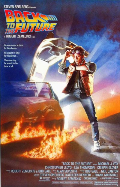 Cartel de cine Regreso al futuro
