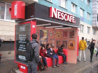 Publicidad original mupis marquesina Nescafe