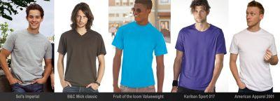 varios estilos de camiseta de manga corta