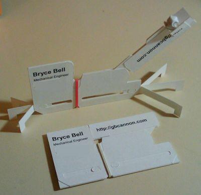 Diseño tarjeta de visita catapulta