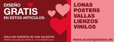 El diseño de tus artículos gratis para San Valentín
