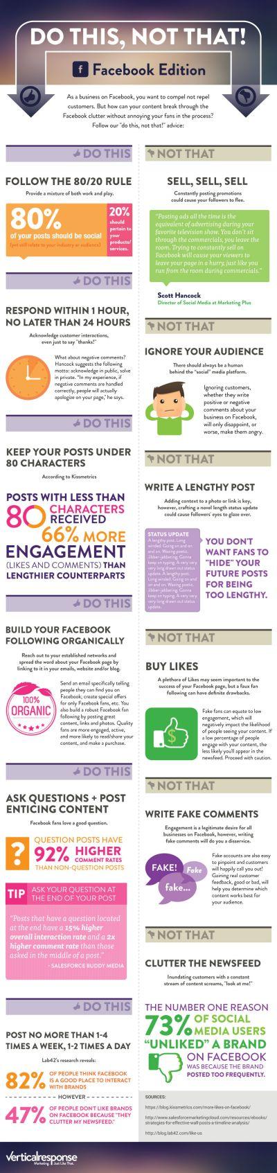 que hacer y que no hacer en facebook