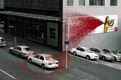 Valla publicitaria kill bill