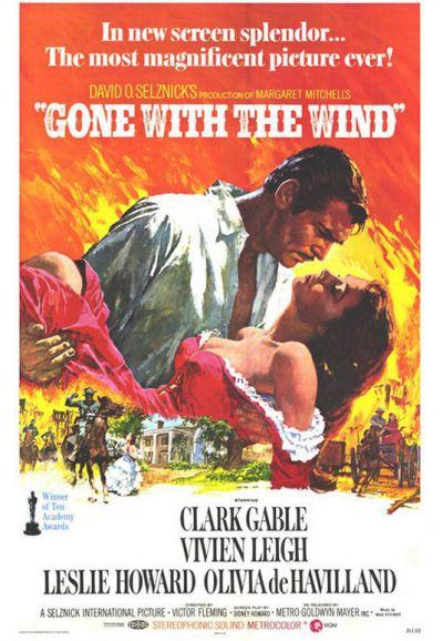 Cartel película de Lo que el viento se llevo