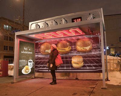 publicidad marquesina comida ecoimpresion