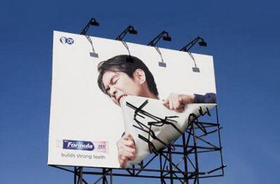 ejemplo de valla publicitaria original y creativa