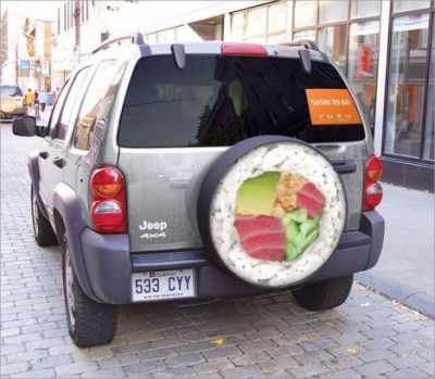 ambient marketing sushi