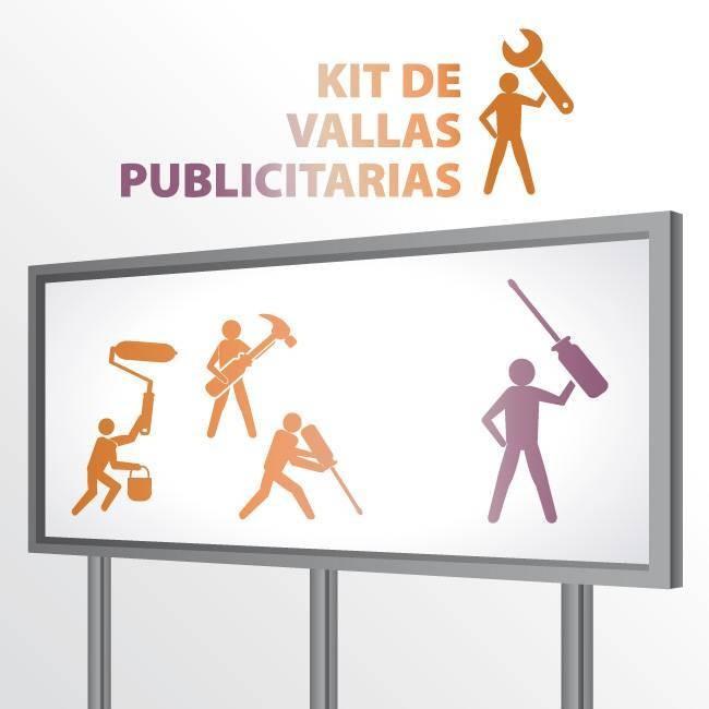 Vallas Publicitarias Metálicas - Kit Completo