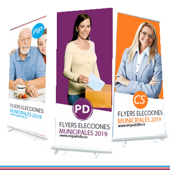 Imprenta roll up para candidato elecciones municipales