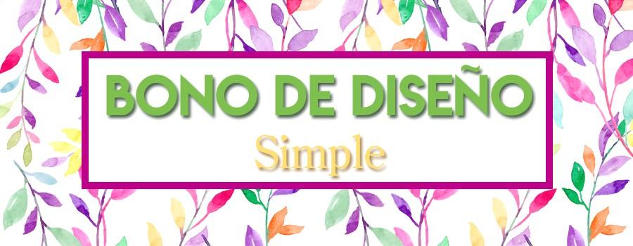 Bono diseño grafico simple ecoimpresion