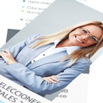 Imprenta flyers candidatos elecciones municipales