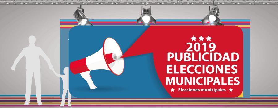 impresion gran formato lonas pvc  para elecciones municipales