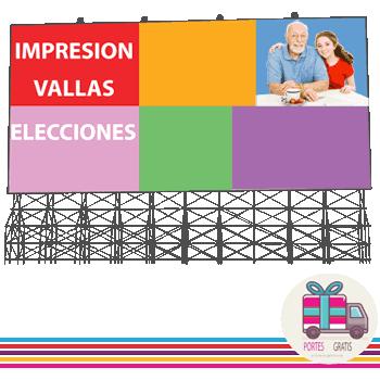 Impresion gran formato vallas elecciones partidos politicos