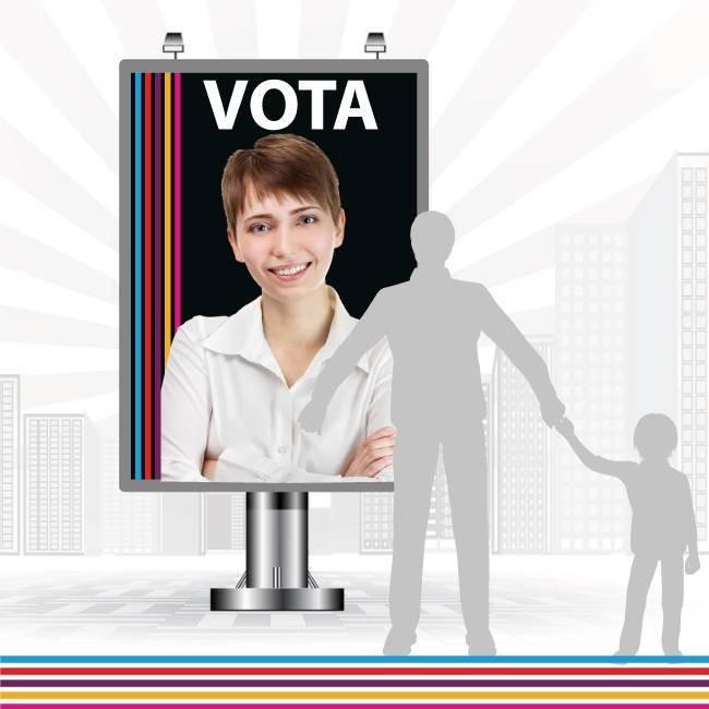 IMPRESION MUPIS PARA ELECCIONES - ECOIMPRESION.ES