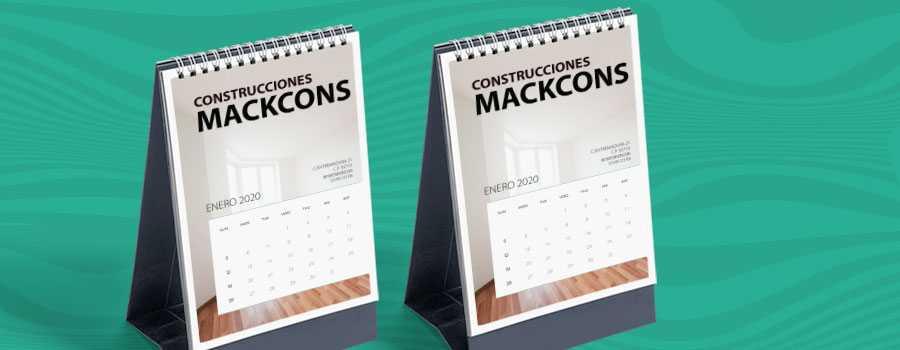 Imprenta calendarios de sobremesa