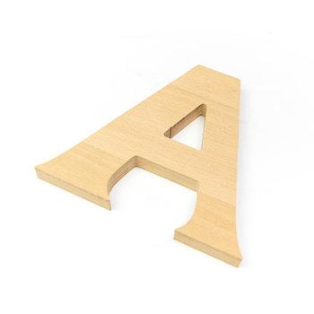 Letras corpóreas de madera