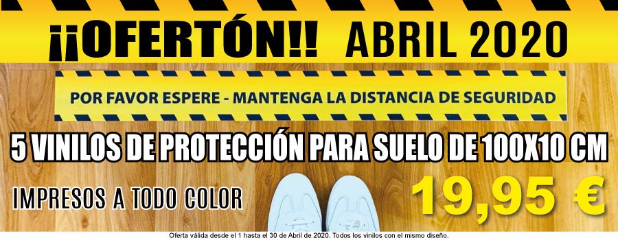 Oferta Especial Vinilos Protección 100x10cm Solo En Abril