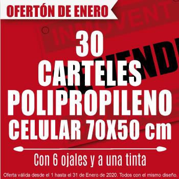 Oferta Especial 30 Carteles 80x60 A Una Tinta Solo En Enero