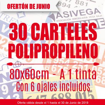 Oferta Especial 30 Carteles 80x60 cm Solo En Junio