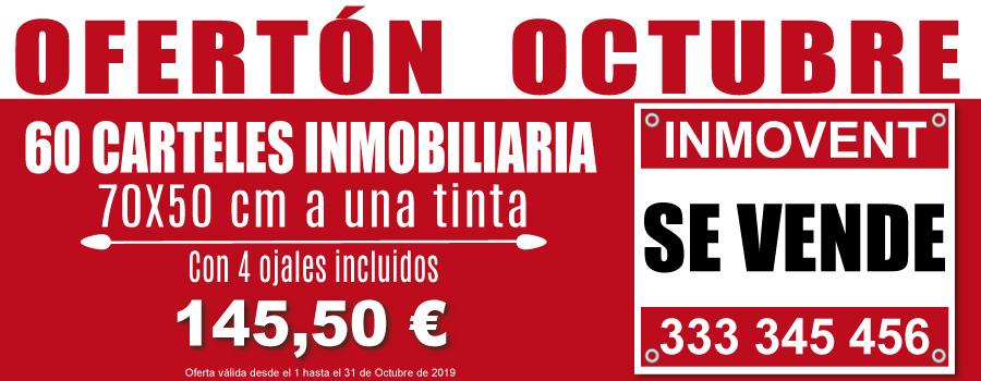 Oferta Especial 60 Carteles 70x50 cm Solo En Octubre