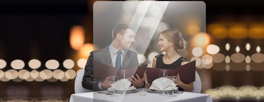 Mamparas de protección transparentes para restaurantes