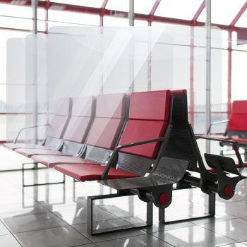 Mamparas de protección para salas de espera