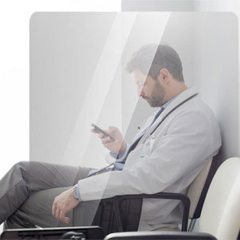 Mamparas protección salas de espera clinicas