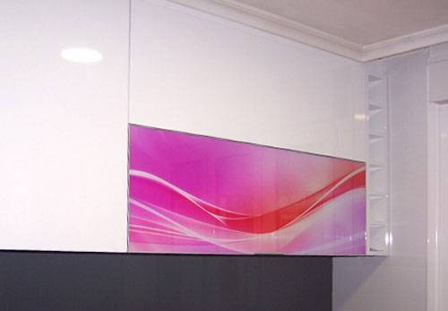Impresión de vinilo transparentes en espejo más blanco