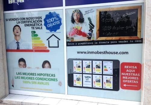 Impresión de vinilos personalizados escaparates Best House