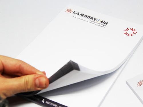 Impresión de block corporativo Lambertour