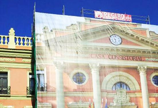 Impresión digital de lonas gigantes para restauración de fachadas